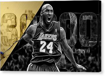 Kobe Bryant Collection Canvas Print by Marvin Blaine