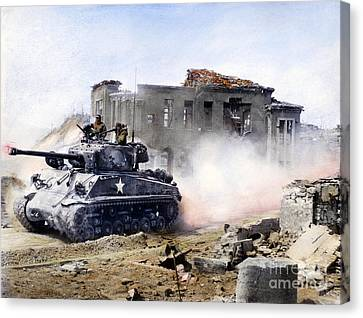 Korean War: Tank, 1951 Canvas Print by Granger