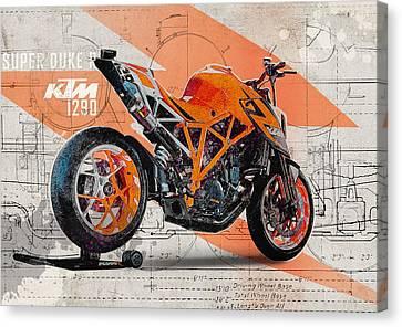 Ktm 1290 Super Duke R Canvas Print by Yurdaer Bes