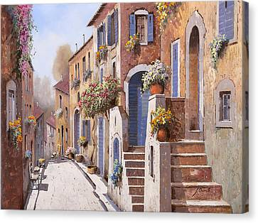 La Strada Al Sole Canvas Print by Guido Borelli