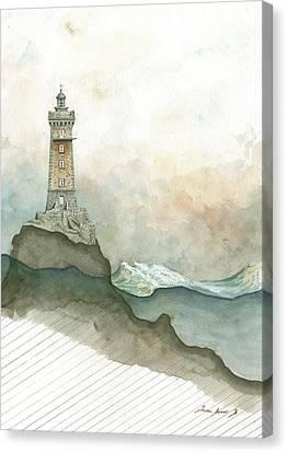 La Vieille Lighthouse Canvas Print by Juan Bosco