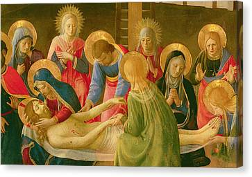 Lamentation Over The Dead Christ Canvas Print by Fra Angelico
