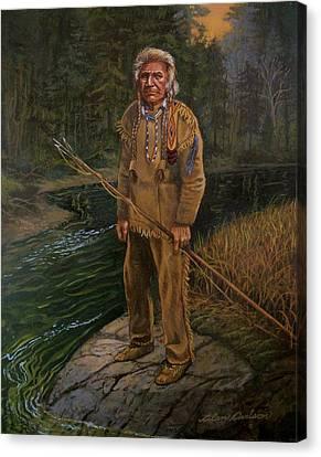 Last Fishing Trip Canvas Print by Alan Carlson