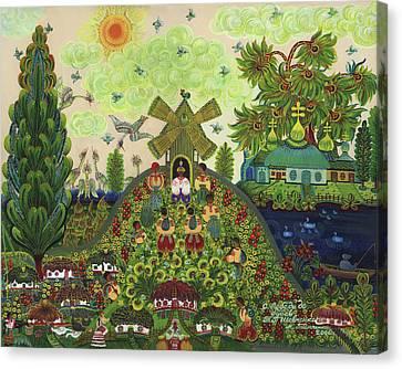 Lebedy Village Visited By T. G. Shevchenko Sometimes Canvas Print by Marfa Tymchenko