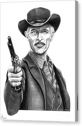 Lee Van Cleef Canvas Print by Murphy Elliott