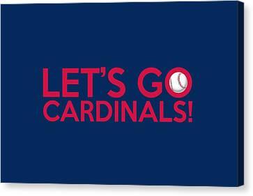 Let's Go Cardinals Canvas Print by Florian Rodarte