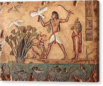Life On The Nile Canvas Print by Greg Coffelt