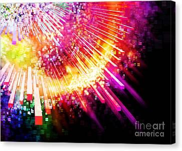 Lighting Explosion Canvas Print by Setsiri Silapasuwanchai