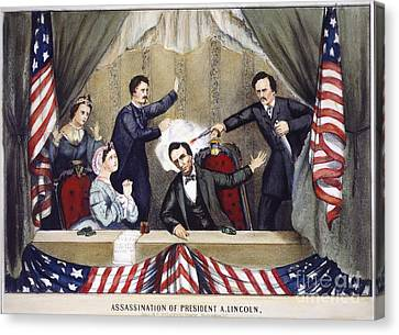 Lincoln Assassination Canvas Print by Granger