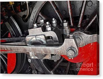 Locomotive Wheel Canvas Print by Carlos Caetano