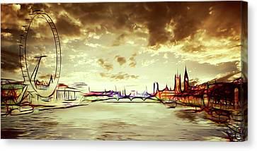 London Dawn Canvas Print by Sharon Lisa Clarke