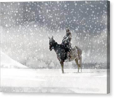 Longest Winter Canvas Print by Paul Sachtleben