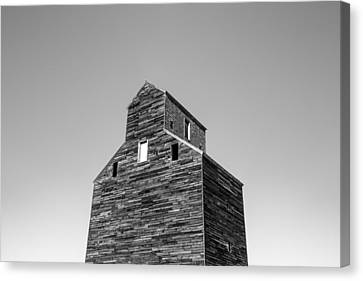 Looking At An Old Grain Elevator Canvas Print by Todd Klassy