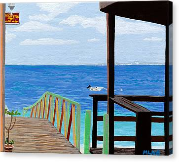 Lookout Along Grand Case Beach Canvas Print by Margaret Brooks