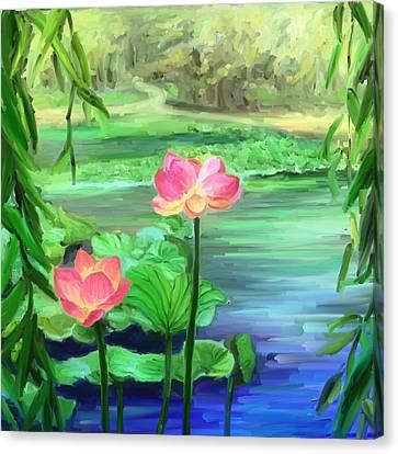 Lotus Canvas Print by Susi Cahyani