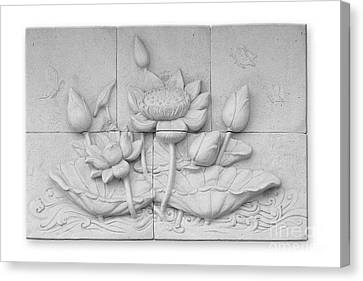 Low Relief Cement Thai Style  Canvas Print by Phalakon Jaisangat
