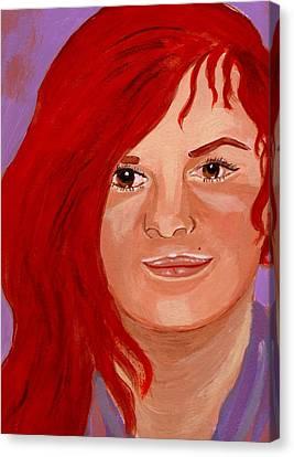 Lydia Canvas Print by Rusty Woodward Gladdish
