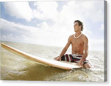 Male Surfer Canvas Print by Brandon Tabiolo - Printscapes
