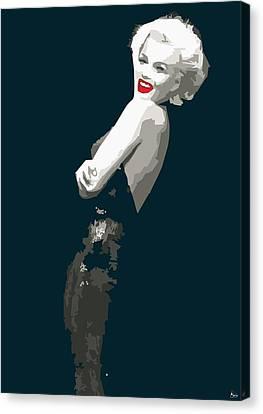 Marilyn Monroe Happy Canvas Print by Quim Abella