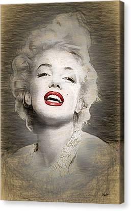 Marilyn Monroe Portrait Canvas Print by Quim Abella