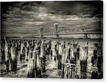 Marine Parkway Bridge Canvas Print by Jeff Watts