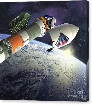 Mars Express Launch, Artwork Canvas Print by David Ducros