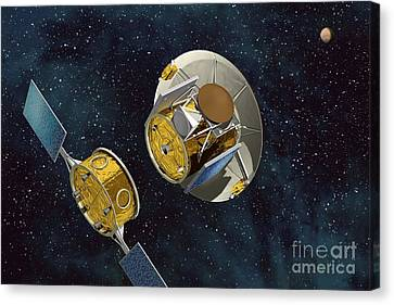 Mars Sample Return Separation, Artwork Canvas Print by David Ducros