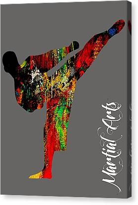 Martial Arts Collection Canvas Print by Marvin Blaine
