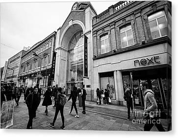 mary street and jervis shopping centre pedestrian shopping area dublin city centre Ireland Canvas Print by Joe Fox