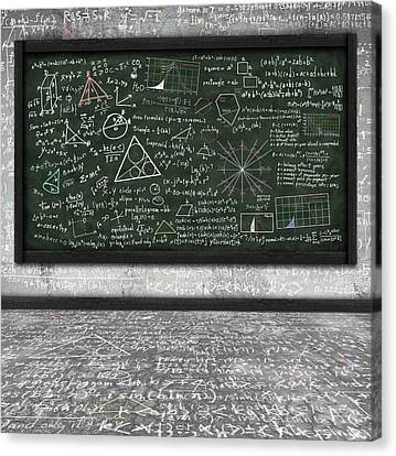 Maths Formula On Chalkboard Canvas Print by Setsiri Silapasuwanchai