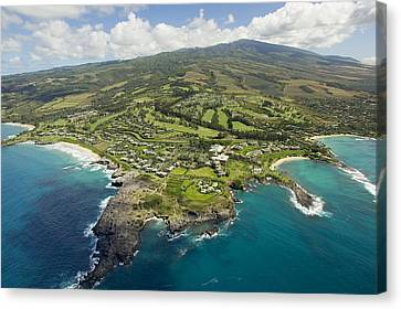 Maui Aerial Of Kapalua Canvas Print by Ron Dahlquist - Printscapes