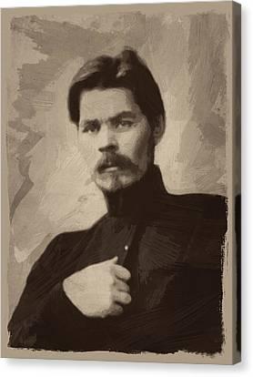Maxim Gorky Canvas Print by Afterdarkness