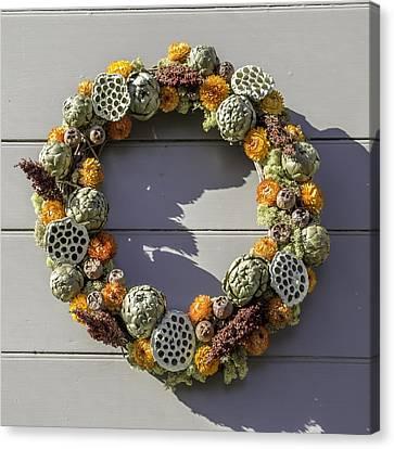 Mckenzie Apothecary Wreath Canvas Print by Teresa Mucha