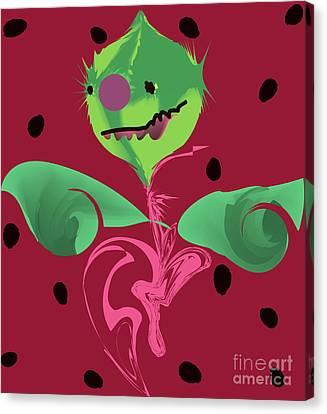 Melon Head Monster Canvas Print by Alexander Hasenkampf