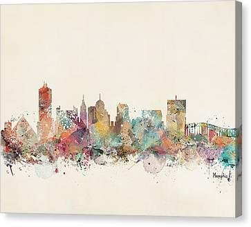 Memphis City Skyline Canvas Print by Bri B