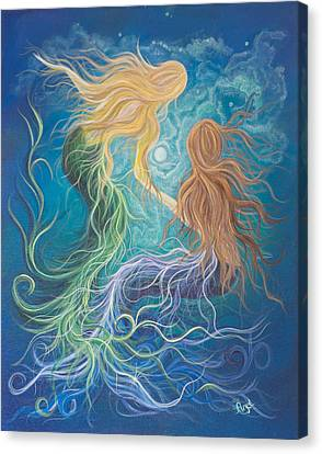 Merfriends Canvas Print by Angel Fritz