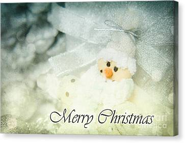 Merry Christmas Canvas Print by Angela Doelling AD DESIGN Photo and PhotoArt