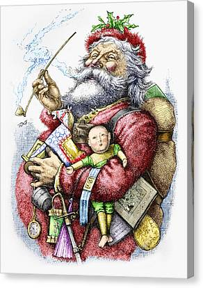 Merry Old Santa Claus Canvas Print by Thomas Nast