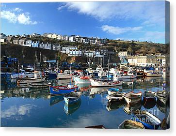 Mevagissey Canvas Print by Carl Whitfield