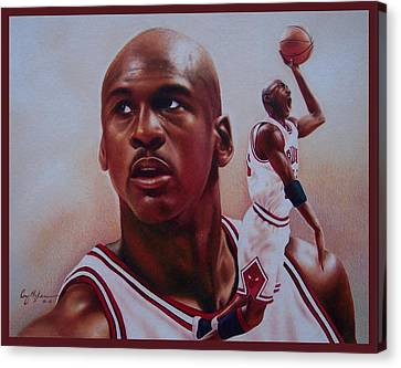 Michael Jordan Canvas Print by Cory McKee
