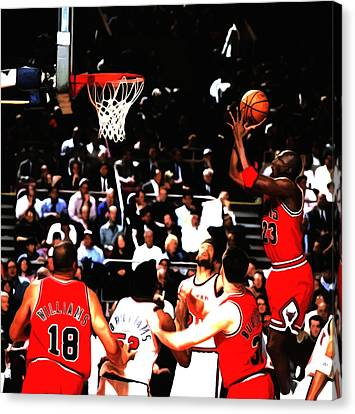 Michael Jordan Soft Touch Canvas Print by Brian Reaves