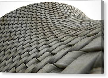 Micro Fabric Weave Dirty Canvas Print by Allan Swart