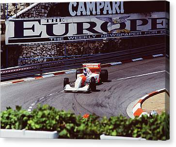 Mika Hakkinen At Loews Hairpin Canvas Print by John Bowers
