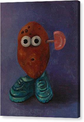 Misfit Potato Head Canvas Print by Leah Saulnier The Painting Maniac