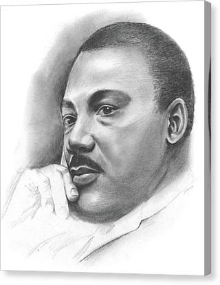MLK Canvas Print by Greg Joens