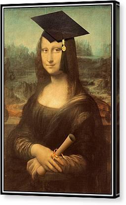 Mona Lisa  Graduation Day Canvas Print by Gravityx9  Designs