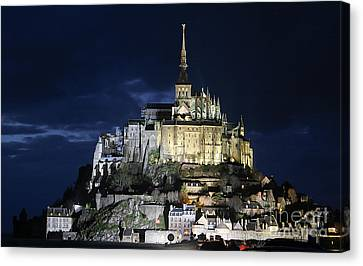 Mont St. Michel At Night Canvas Print by Joshua Francia