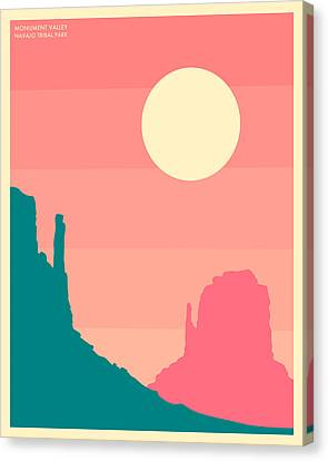 Monument Valley, Navajo Tribal Park Canvas Print by Jazzberry Blue