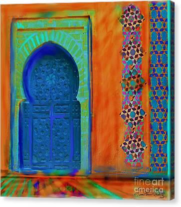 Morroccon Door Canvas Print by Seema Sayyidah