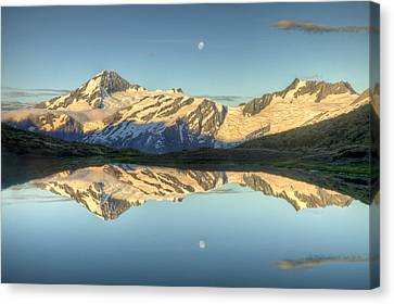Mount Aspiring Moonrise Over Cascade Canvas Print by Colin Monteath